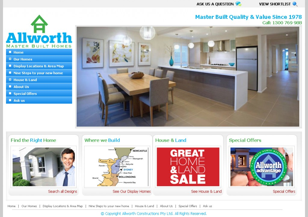 Hot property joomla web aspire solutions for Allworth home designs